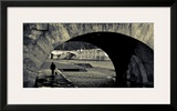 A Man and His Dog Framed Giclee Print by Sabri Irmak