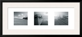 Drifting Sands Triptych Framed Giclee Print by Jo Crowther