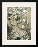 Alice & Pack of Cards Art by Arthur Rackham
