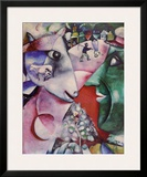 I and the Village Prints by Marc Chagall