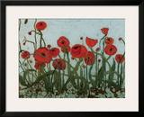 Poppyfield I Framed Giclee Print by Karen Tusinski