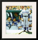 Dugout Poster by Norman Rockwell