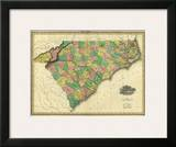 Map of North and South Carolina, c.1823 Prints by Henry S. Tanner