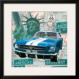 Cruising USA II Framed Giclee Print by Linda Wood