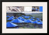The Blue Umbrellas I Art by  Christo