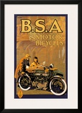B.S.A. Motor Bicycles Poster