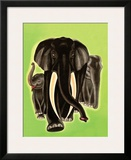 Elephants Prints by Frank Mcintosh