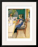 Late Riser's Breakfast Prints by Carl Larsson