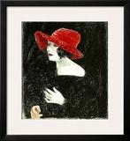 Bildnis Frau Martha Dix, c.1923 Print by Otto Dix