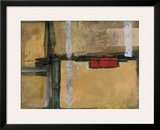 City Pulse Framed Giclee Print by Leo Burns