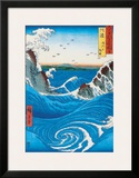 Rough Sea at Naruto in Awa Province Poster by Ando Hiroshige