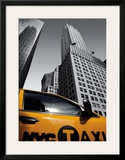 Chrysler Building, New York City Taxi Poster by Michel Setboun