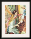 Two Girls at the Piano Poster by Pierre-Auguste Renoir