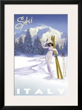 Ski Italy Prints by Kem Mcnair