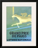 Loterie Nationale Framed Giclee Print by Paul Colin