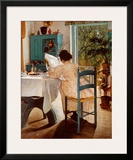 At Breakfast Print by Lauritz Ring