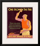 Iron in Fire Framed Giclee Print by Frank Mather Beatty