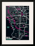 Los Angeles Map Prints by Tom Frazier