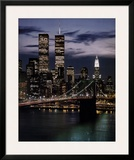 World Trade Center with Brooklyn Bridge Posters