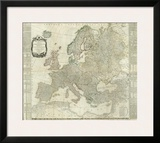 Composite: Europe, c.1787 Prints by Thomas Kitchin