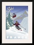 Ski France Poster by Kem Mcnair