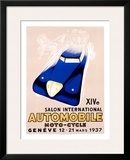 Salon Auto Geneve Framed Giclee Print by Edward Henry Grin