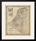 Johnson's Map of Holland & Belgium Posters