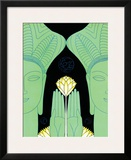 Two Heads Two Hands and Flower Print by Frank Mcintosh