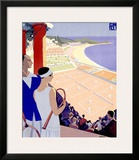 Monte Carlo Framed Giclee Print by Roger Broders
