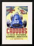 Cadours Circuit International Framed Giclee Print