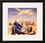 Grand Prix Automobile Meeting Framed Giclee Print by Geo Ham