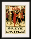 Womens Labor Force, Greve des Dactylos Framed Giclee Print