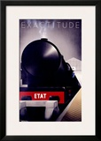 Exactitude Framed Giclee Print by Pierre Fix-Masseau