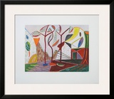 Landscape with Trees Prints by Werner Gilles