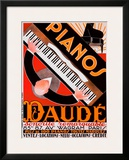 Pianos Daude Framed Giclee Print by Andre Daude
