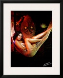 Pin-Up Girl: Carina Winkytiki Framed Giclee Print by Octavio Arizala
