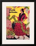 Visite Espagne Framed Giclee Print