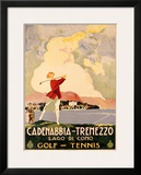 Cadenabbia to Tremezzo, Lago di Como, Golf and Tennis Framed Giclee Print