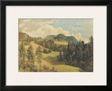 Landscape near Miesenbach Prints by Friedrich Gauermann