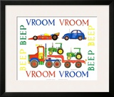 Vroom Vroom Beep Beep Posters by Marnie Bishop Elmer