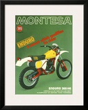 Montesa Motorcycle H6 Enduro Framed Giclee Print