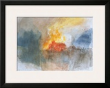 The Burning of the Houses of Parliament, c.1834 Prints by J. M. W. Turner