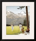 Palace Hotel, St. Moritz Framed Giclee Print by Emil Cardinaux