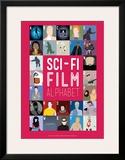 Sci-Fi Film Alphabet - A to Z Impressão giclée emoldurada por Stephen Wildish