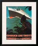 Cosulich Line Trieste Poster by A. Dondou