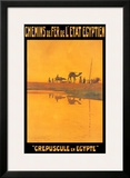 Crepuscule En Egypte Posters by M. Tamplough