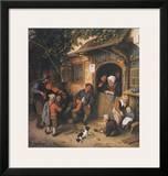 The Village-Fiddler , 1673 Prints by Adriaen Ostade