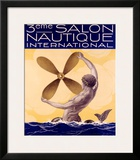 3rd Salon Nautique International Framed Giclee Print by Sandy Hook
