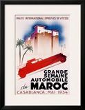 Casablanca International Rally Framed Giclee Print