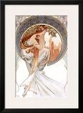 Poetry Framed Giclee Print by Alphonse Mucha